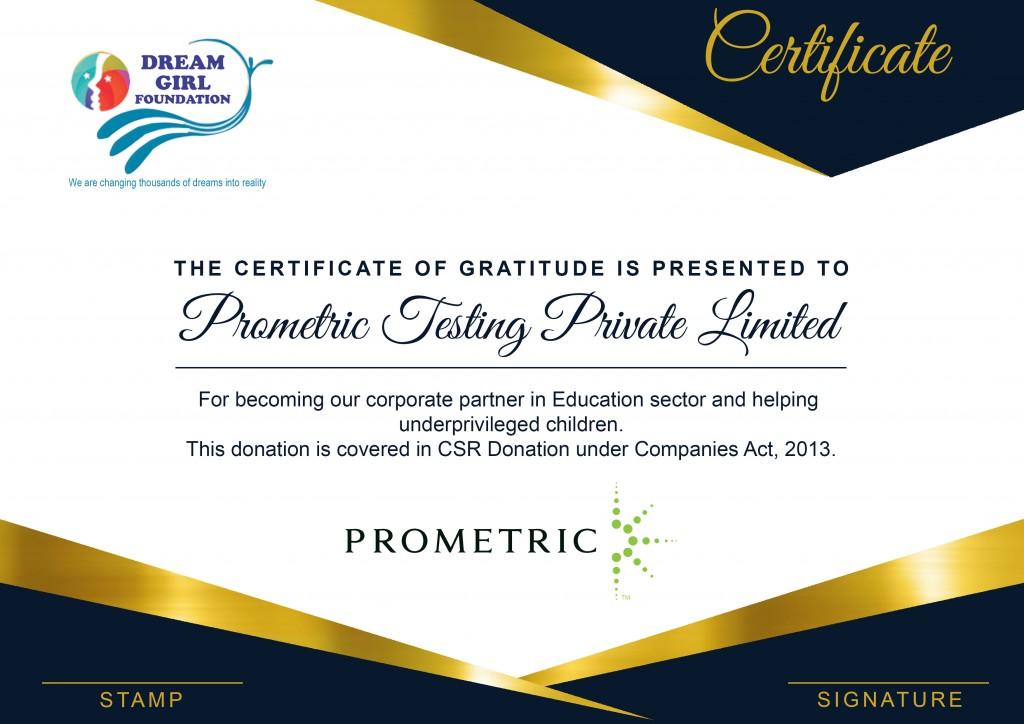 Prometric- Corporate partner